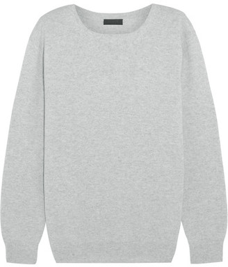 J.Crew - Collection Cashmere Sweater - Light gray $240 thestylecure.com