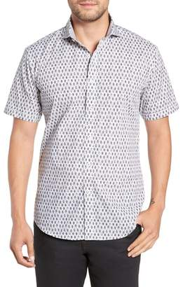 Bugatchi Regular Fit Print Sport Shirt