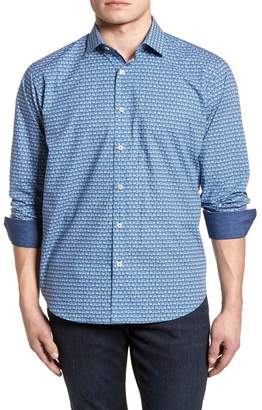Bugatchi Patterned Long Sleeve Classic Fit Shirt