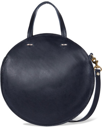 Clare V - Alistair Small Leather Shoulder Bag - Navy $345 thestylecure.com
