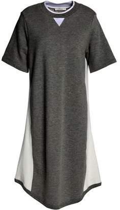 Clu Mesh-Paneled Cotton-Terry Dress