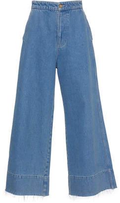 Loewe Cropped Wide-Leg Jeans