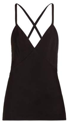 Haider Ackermann V Neck Crepe Camisole - Womens - Black