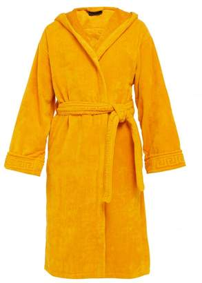 Versace Medusa Cotton Terry Towelling Robe - Mens - Gold