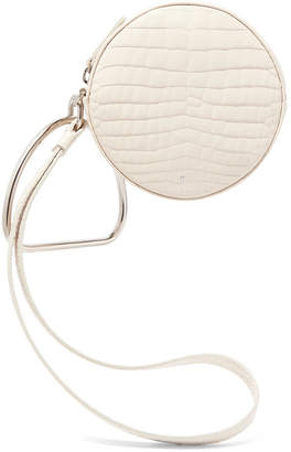 Off-White Gu_de - Circle Croc-effect Leather Clutch