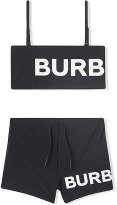 Burberry logo two-piece bikini