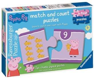 Ravensburger Boys Peppa Pig 9 x 2 Piece Shaped Jigsaw Puzzles