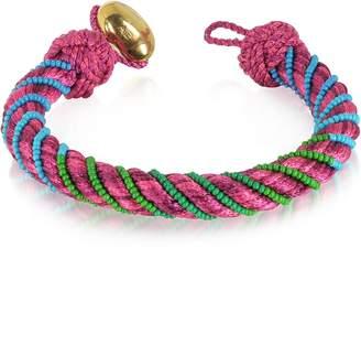 Aurelie Bidermann Maya Peony Bracelet w/18K Gold-Plated Bead