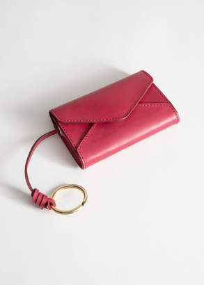 And other stories Leather Envelope Key Pouch