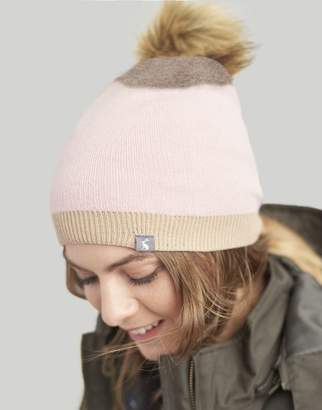 Joules French Navy Flurrywell Pop-A-Pom Hat Size One Size