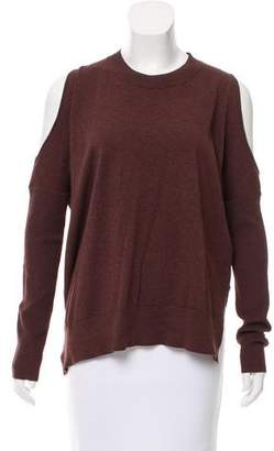 AllSaints Cold-Shoulder Crew Neck Sweater