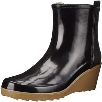 Chooka Women's Side Gore Wedge Ankle Rain Boot