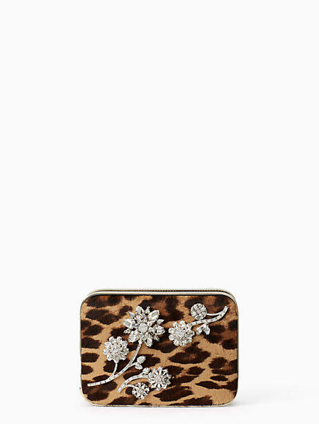 Kate Spade Evening belles zurie with flower gem - LEOPARD - STYLE
