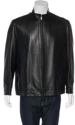Kiton Sheepskin Zip-Up Jacket w/ Tags