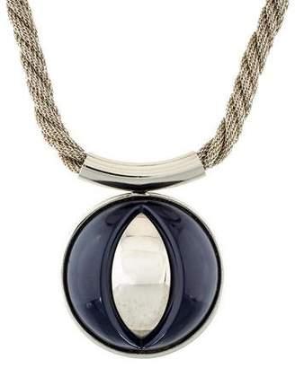 Lanvin Resin Dome Pendant Necklace