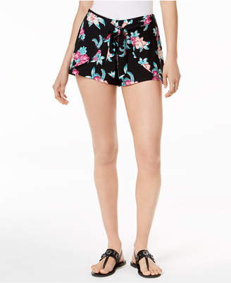 Ultra Flirt Ultraflirt By Ikeddi Printed Tie-Front Shorts