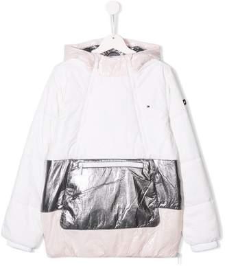 Tommy Hilfiger Junior shiny hooded jacket