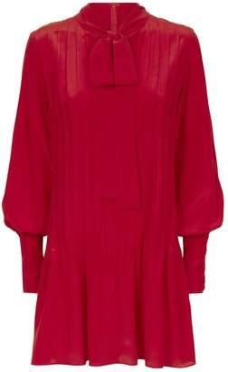 Alexis Theodora Tie Neck Mini Dress