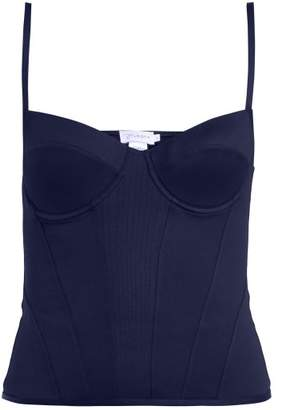 Ernest Leoty - Romy Corset Stretch Top - Womens - Navy
