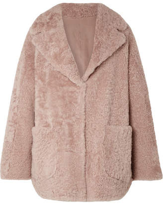 Brunello Cucinelli Reversible Shearling Coat - Antique rose