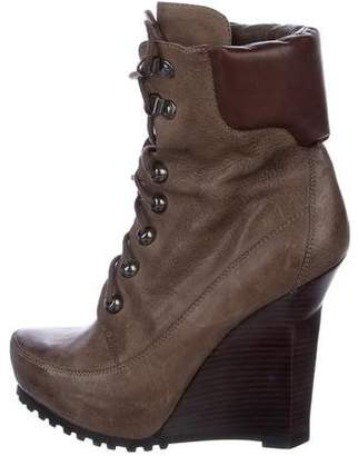 Jean-Michel Cazabat Leather Wedge Booties