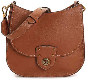 Lauren Ralph Lauren Millbrook Convertible Leather Shoulder Bag - Women's