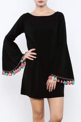 Judith March Festive Bell-Sleeved Dress