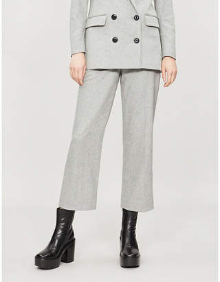 Rag & Bone Libby high-rise wool-blend straight-leg trousers