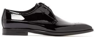 Burberry Cranbrook Patent Leather Derby Shoes - Mens - Black