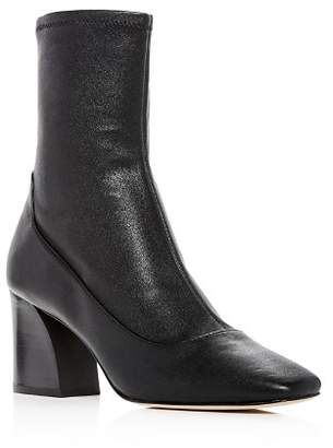 Donald J Pliner Women's Gerrie Leather High Block-Heel Booties