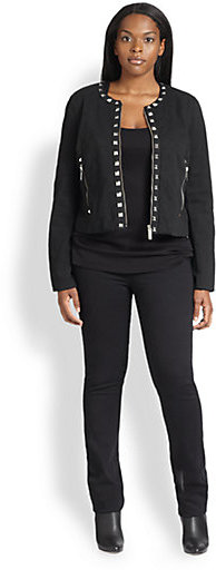 MICHAEL Michael Kors MICHAEL MICHAEL KORS, Salon Z Stud-Detail Quilted Jacket