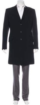 Dolce & Gabbana Wool Button-Up Overcoat
