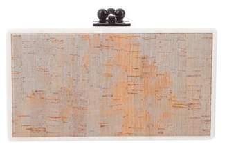 Edie Parker Jean Panel Cork Clutch
