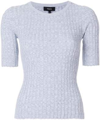 Theory ribbed shortsleeved sweater