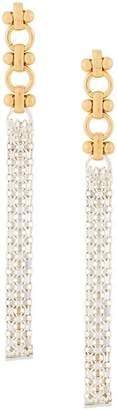 Wouters & Hendrix A Wild Original! elegant long chain stud earrings