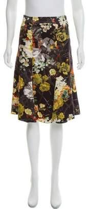 Just Cavalli Floral Knee-Length Skirt