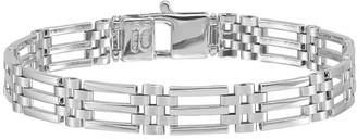 """Italian Gold Men's 8-1/4"""" 14K White Gold Link Bracelet, 16.1g"""