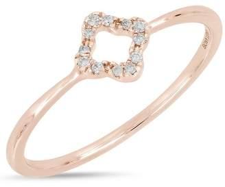 Bony Levy 18K Rose Gold Pave Diamond Open Diamond Ring - 0.04 ctw