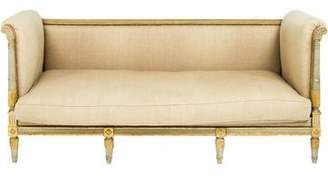 Directoire-Style Gilt-Trimmed Settee