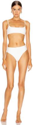 Off-White Off White Belt Bikini Swim Set in White | FWRD