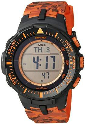 Casio Men's PRG-300CM-4CR Pro Trek Solar-Powered Watch with Band