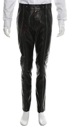 Bottega Veneta Leather Biker Pants