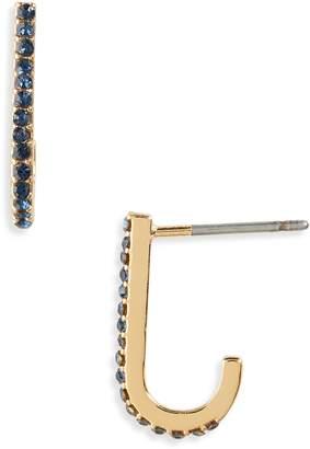 Treasure & Bond Crystal Huggie Earrings