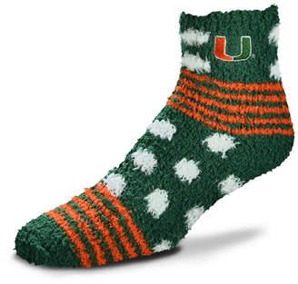 For Bare Feet Miami Hurricanes Homegater Sleep Soft Socks