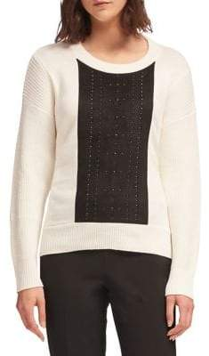 DKNY Studded Crewneck Pullover