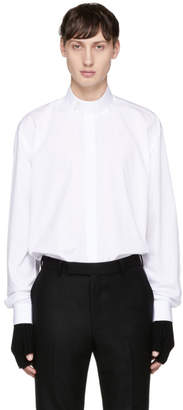 John Lawrence Sullivan Johnlawrencesullivan White Stand Collar Shirt