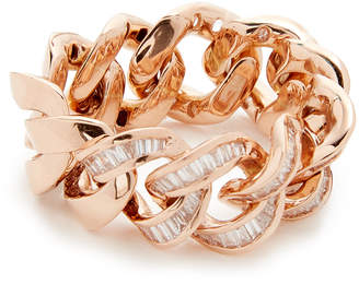 Shay 18k Gold Baguette Diamond Jumbo Link Ring
