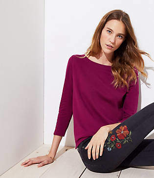 LOFT Tulip Back Sweatshirt