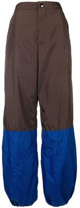 Marni colour blocked technical trousers