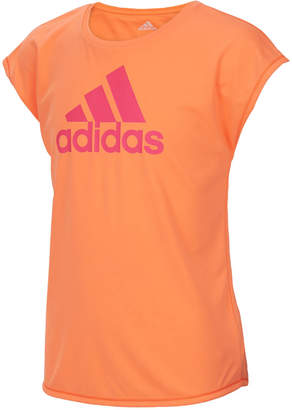 adidas Climalite Logo-Print T-Shirt, Little Girls